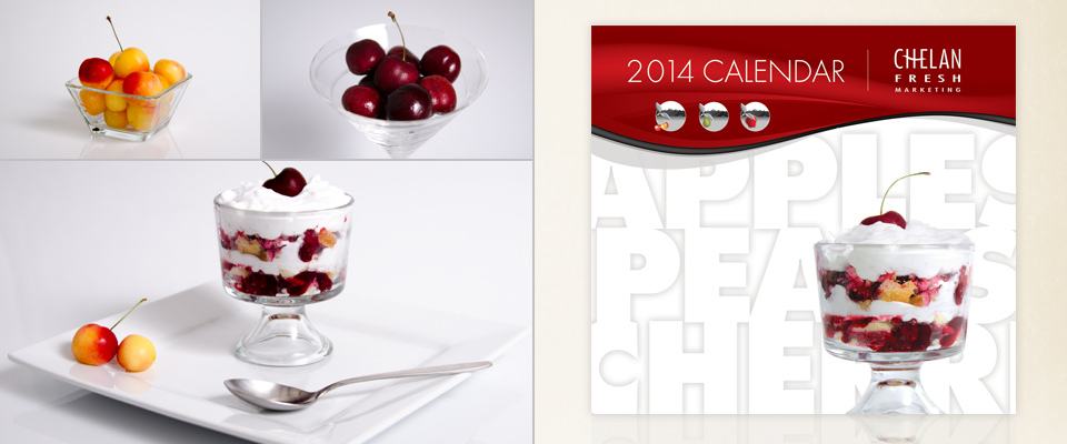Gourmet dessert with fresh cherries