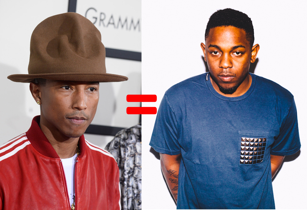 kendrick lamar and pharrell are the same person.jpg