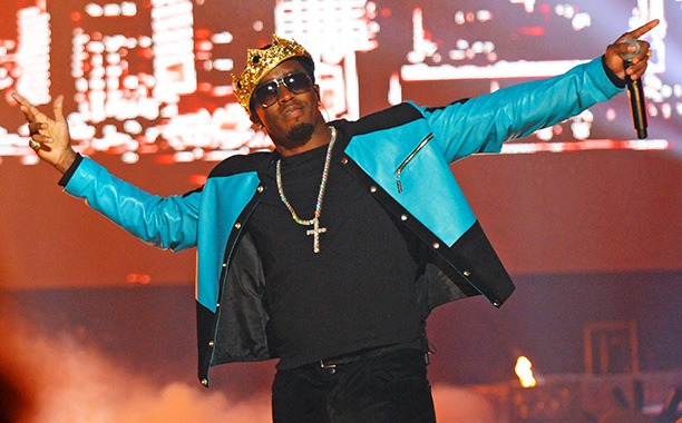 Puff Daddy wearing a crown because he's the hottest record producer in the world.jpg