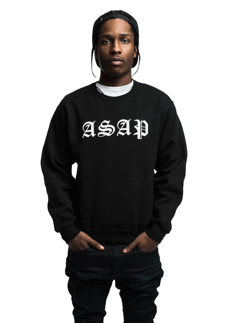 A$AP Rocky looking hot and serious wearing a black crew neck sweater and black jeans.jpg