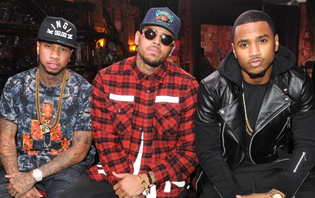 Tyga and Chris Brown and Trey Songz all being gorgeous and extremely hot on tour together.jpg