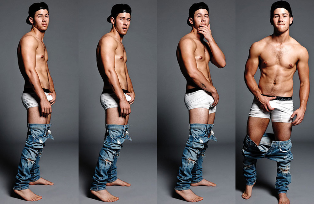 Nick Jonas looking really fucking hot and gorgeous in his Flaunt magazine interview with his huge package.jpg