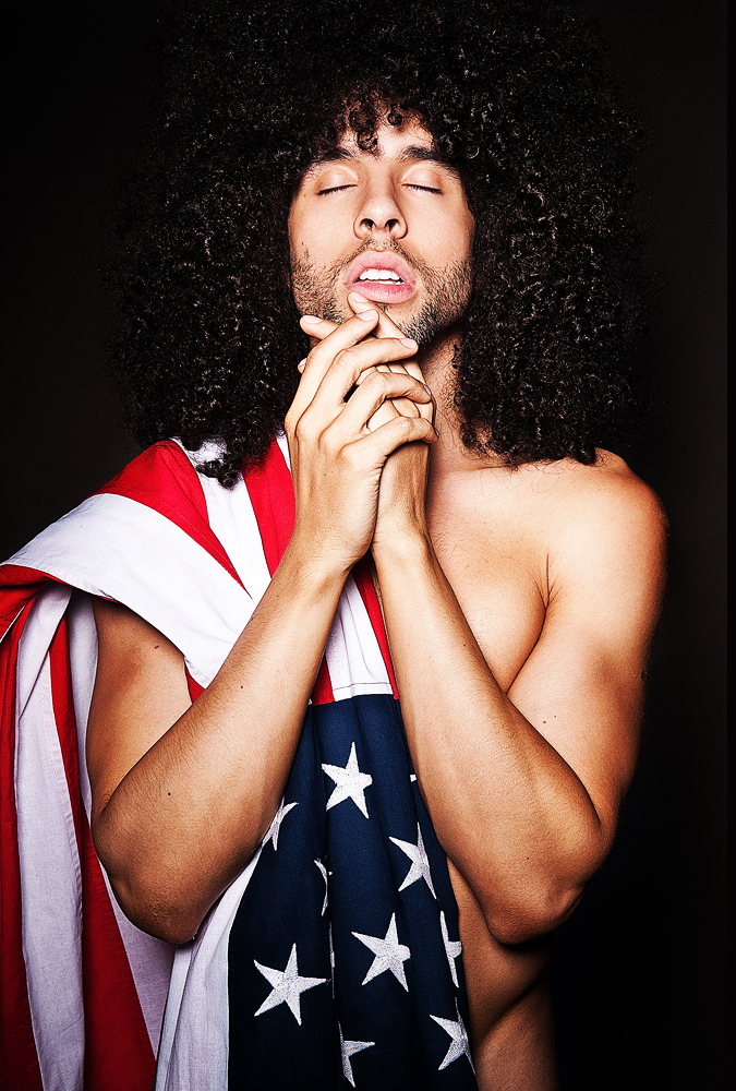 Kevin Michael looking so hot naked with the American flag.jpg