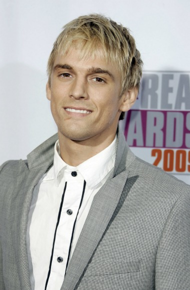 Aaron Carter looking hot on the red carpet at an awards show.jpg