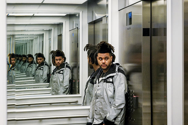 The Weeknd looking hot in his apartment building.jpg