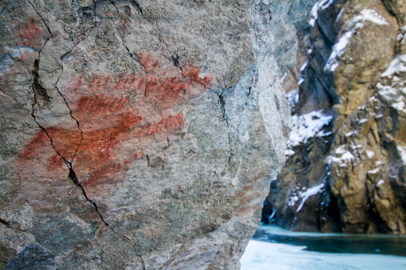 Pictographs made by the Tukudika in the Big Creek Gorge