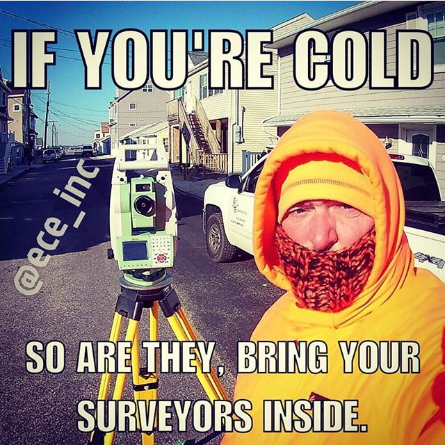 It's going to be another brutal one tomorrow.... #itscoldoutside be careful! #surveyorproblems #surveylife #landsurveying #eceinc