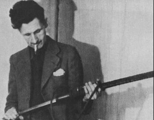 George Orwell with a gun.