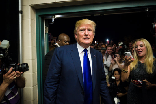 Donald Trump, a contender for the Republican nomination for president. (Photo:  Ian Thomas Jansen-Lonnquist for The New York Times.)