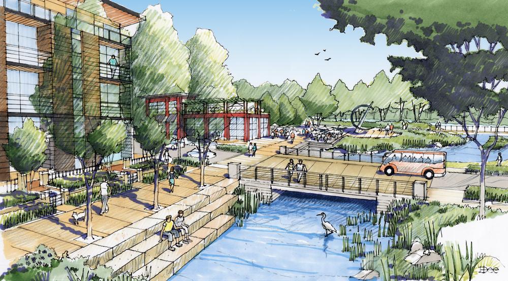Eugene riverfront master plan rowell brokaw for Residential architects eugene oregon