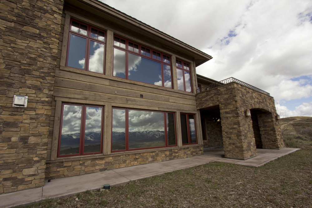 Exterior Chinking and Staining Promontory Utah.jpg