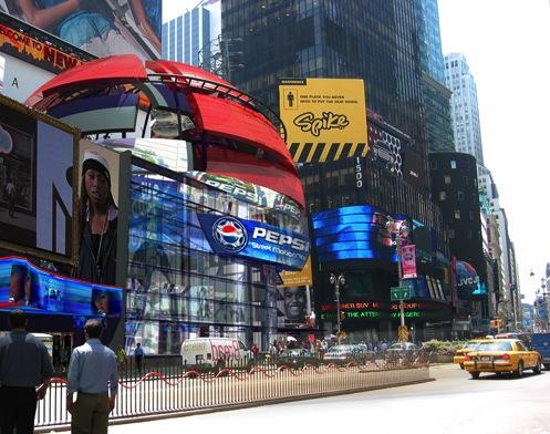 Thrillboard Coaster Times Square. Sottostudios