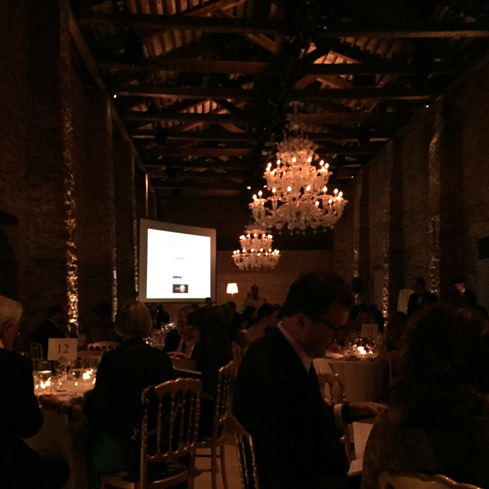 Design awards dinner in Venice