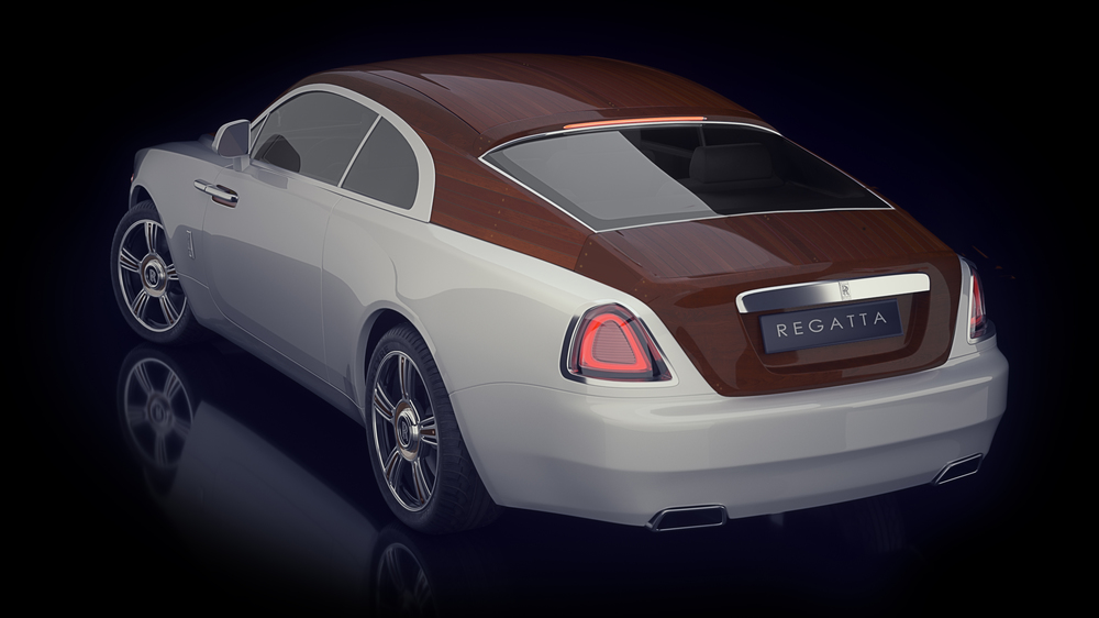 The Wraith's  Stern is equally impressive with it's inlaid and planked fastback.