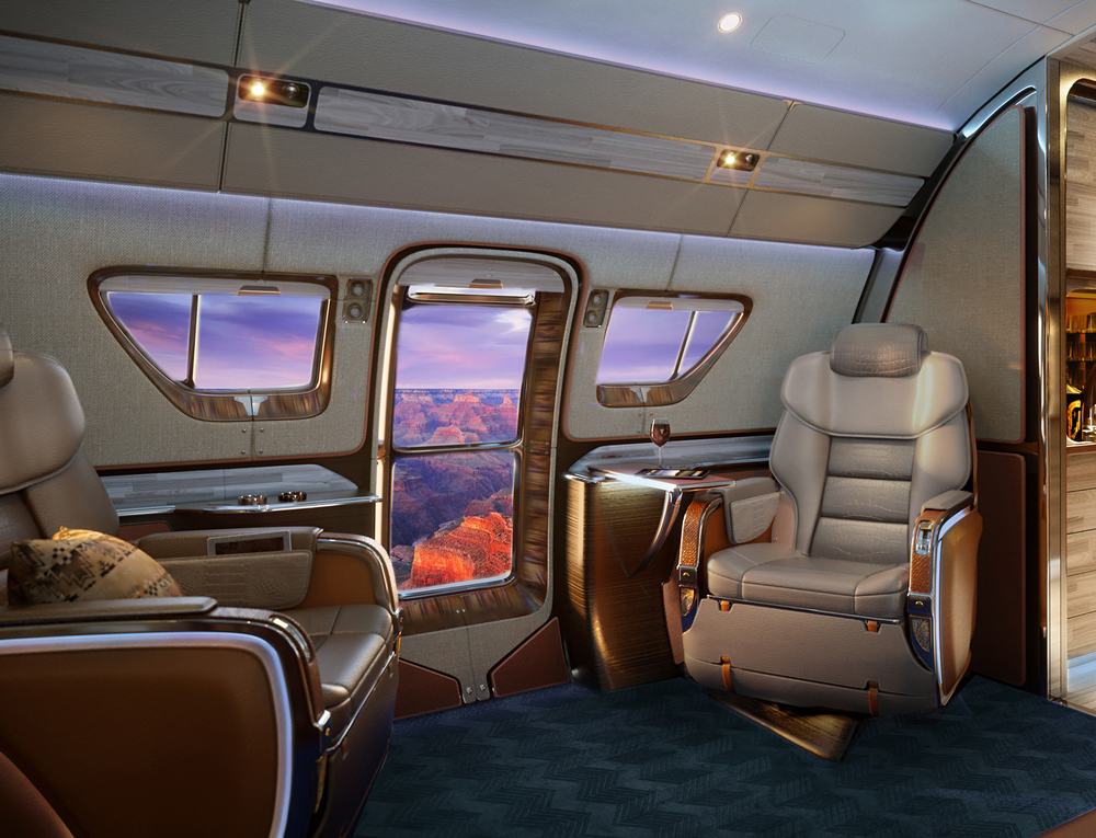 Embraer's exclusive portrait window  delivers on wide open spaces.  The largest in private aviation.