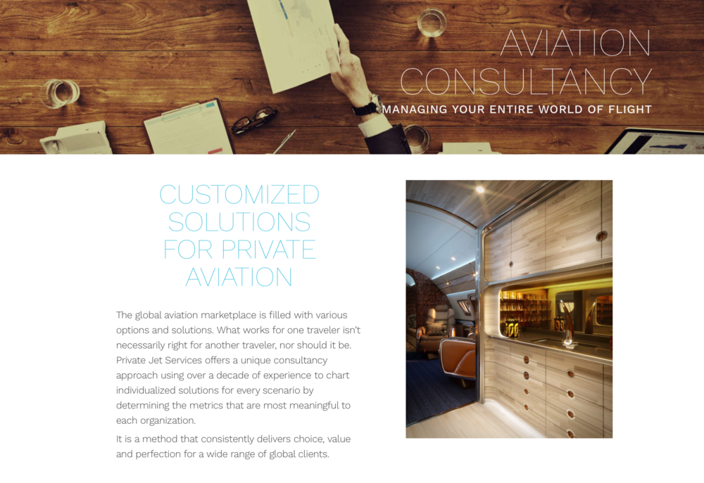 Private Jet Services  and SottoStudios can provide the ultimate bespoke solutions for a variety of aircraft.
