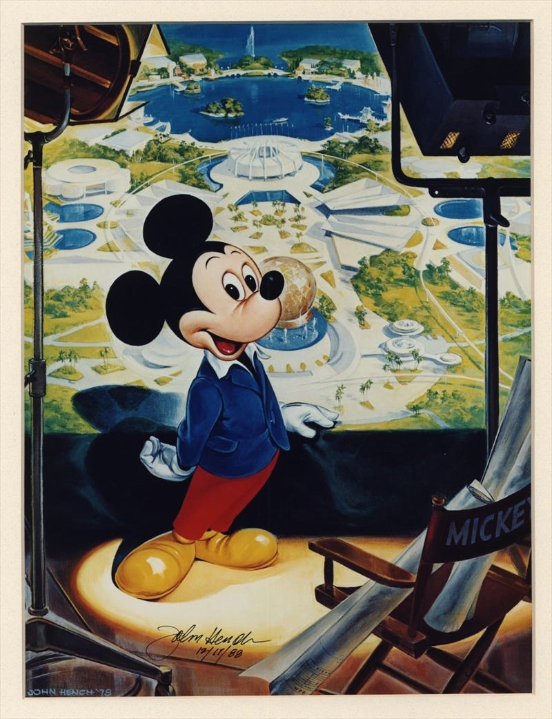 John Hench's study of Mickey Mouse hoping for graft?