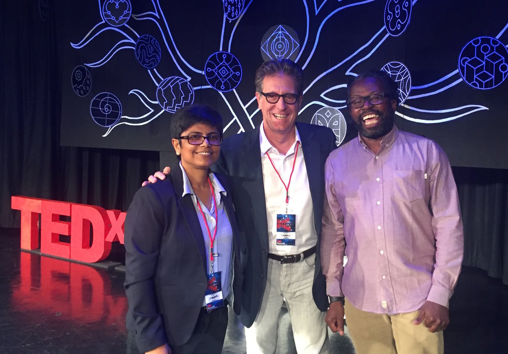 With fellow TED speakers Dr. Pradipta Ghosh, Eddie Sotto, and Yomi Ayeni