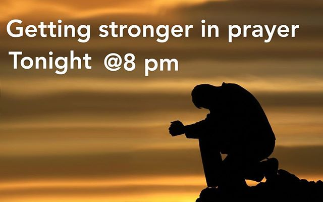 Join us tonight for a prayer message! Don't miss out! At 8 pm!!!