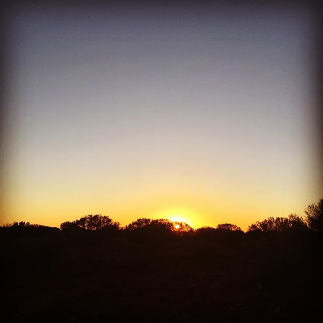 Ah nothing like an outback #sunset - the space and the serenity on the road shooting for the  #thestorycatchers