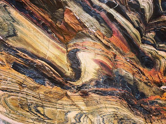 Wow the amazing #rock layers #secondvalley #southaustralia