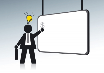 """""""Idea light bulb Businessman"""" by Feelart/freedigitalphotos.net"""