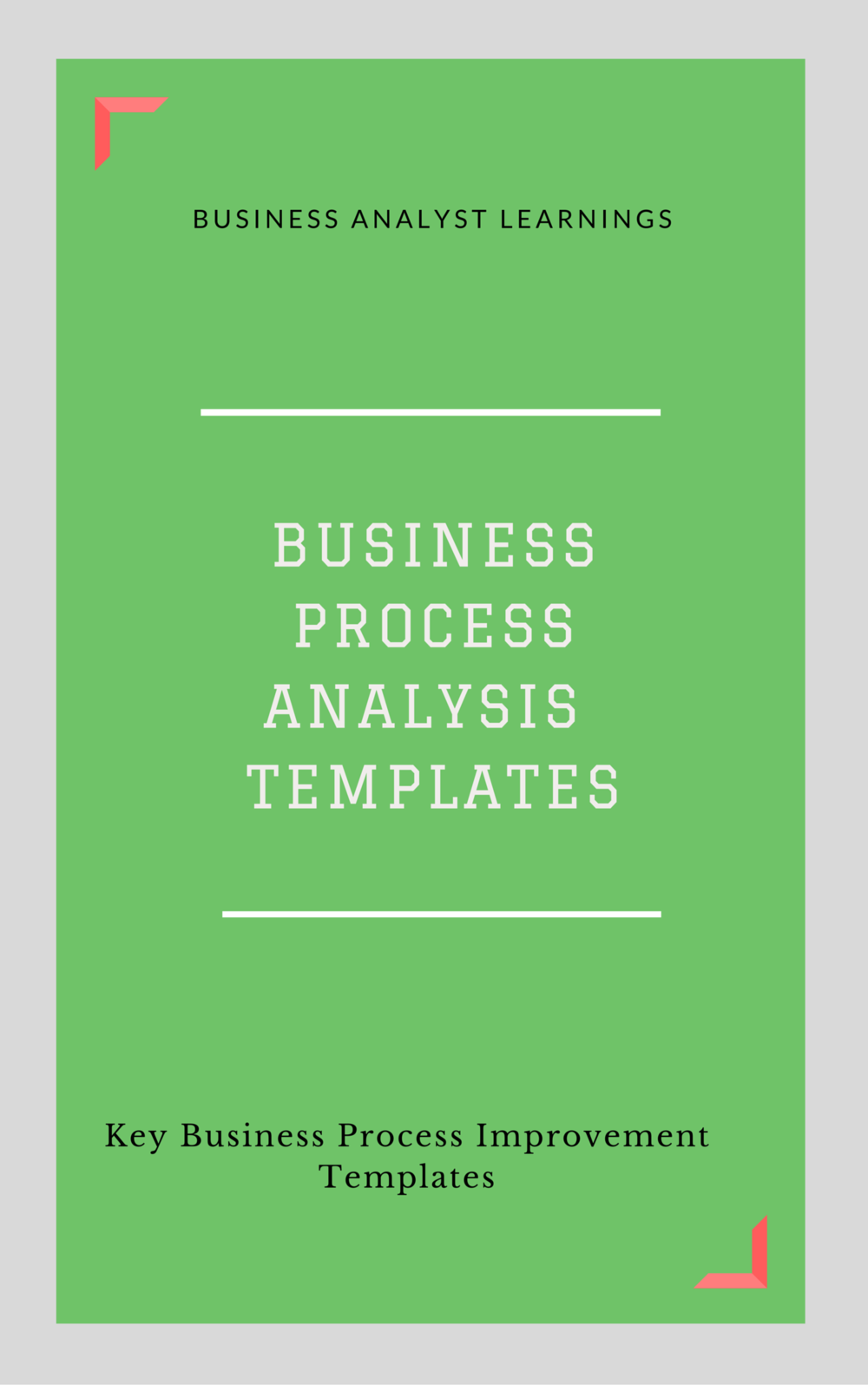 business process analysis template collection business analyst