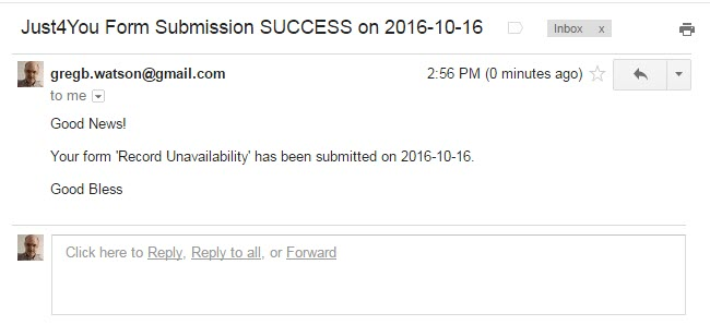 Check you email inbox for an email like this one that confirms that the webform posted successfully