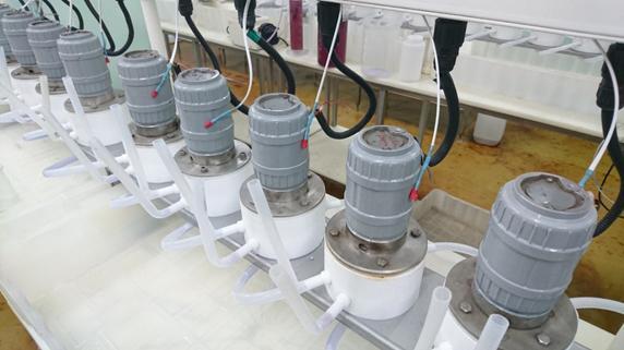 Рисунок 1 – Датчики температуры со съемным креплением, установленные на корпусы двигателей центробежных экстракторов ЭЦ-10ФА