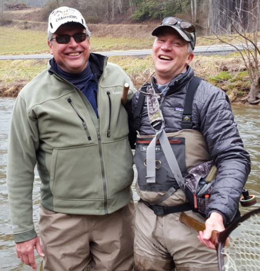 Bill and John Miko, Laurel River, North Carolina