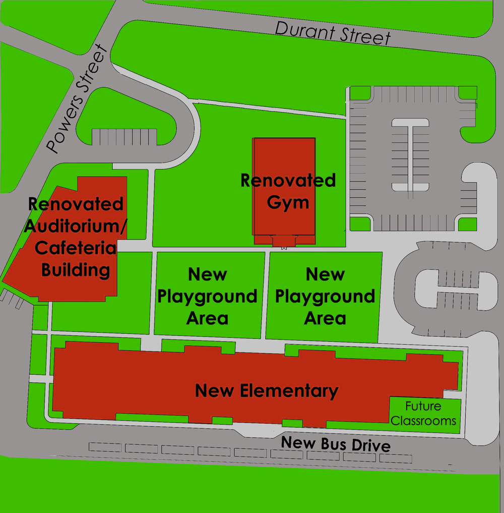 Safer Bus Only Drive and streamlined parent pickup and drop off locations. Also increased event parking for parents.