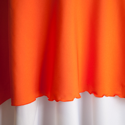 "Orange  Available In: 90"", 120"" and 132"""