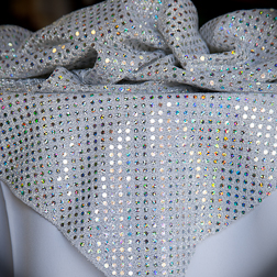 "Silver Sequin  Available In: 45"" Square"