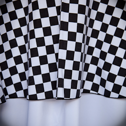 "Black & White Check  Available In: 90"" Round"