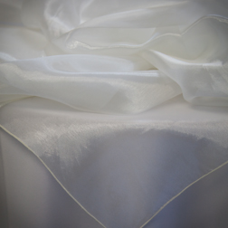 Ivory Mirror Organza  Available In: 72 & 84