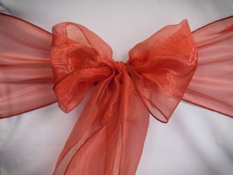 Burnt Orange Organza
