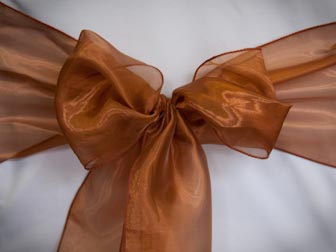 Dark Copper Organza