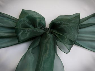 Hunter Green Organza