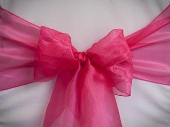 Hottest Pink Organza