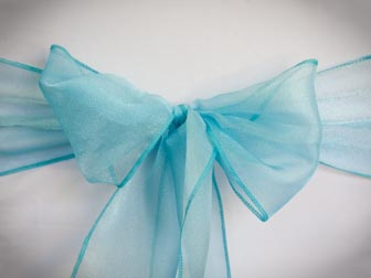 Turquoise Sparkle Organza