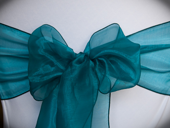 Teal Organza & Chair Sash Gallery 2 u2014 Specialty Linens and Chair Covers