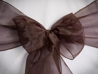 Dark Chocolate Organza
