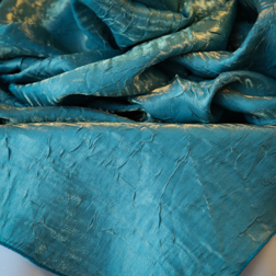 "Turquoise Crushed  Available in: 84"" Square"