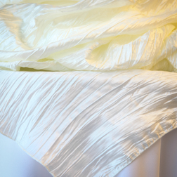 "Ivory Crinkle  Available In: 84"" Square"