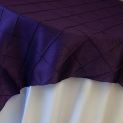 "Purple Pintuck Available In: 84"" Square"