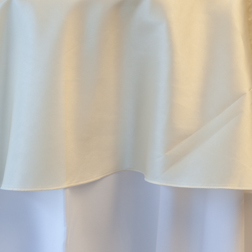 Ivory Taffeta  Available In: 120""