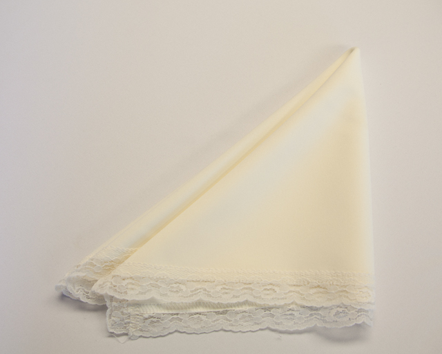 Ivory with Lace Trim