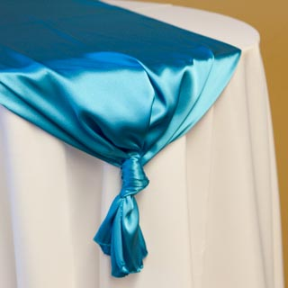 Turquoise Satin Runner