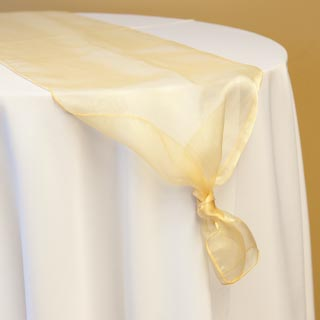 Gold Organza Runner