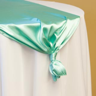 Tiffany Green Satin Runner